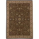StyleHaven Polypropylene 53 X 79 Brown/Ivory Area Rug