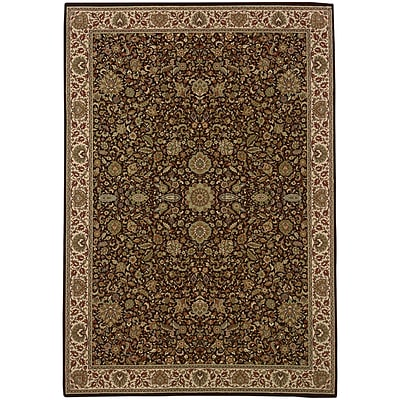 StyleHaven Traditional Polypropylene 4X 59 Brown/Ivory Area Rug (WARI172D24X6L)
