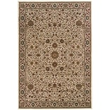 StyleHaven Polypropylene 67 X 96 Ivory/Green Area Rug