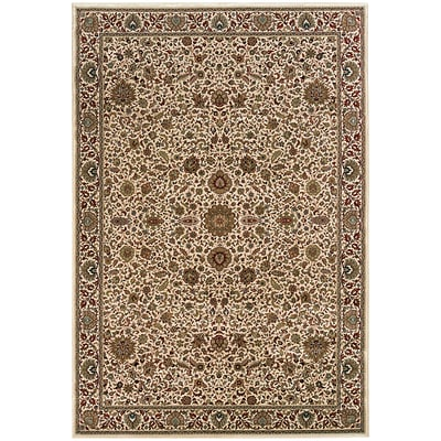 StyleHaven Traditional Polypropylene 67 X 96 Ivory/Green Area Rug (WARI172W36X9L)