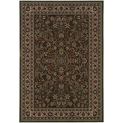 StyleHaven Traditional Polypropylene 67 X 96 Green/Ivory Area Rug (WARI213G86X9L)