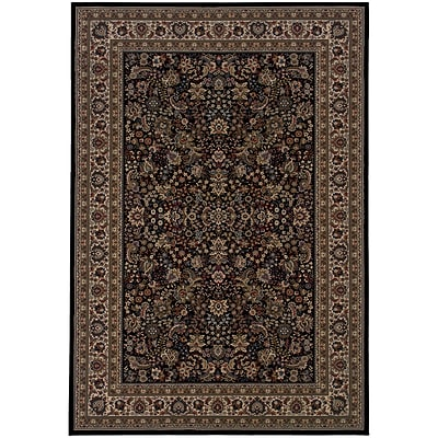 StyleHaven Traditional Polypropylene 4X 59 Black/Ivory Area Rug (WARI213K84X6L)