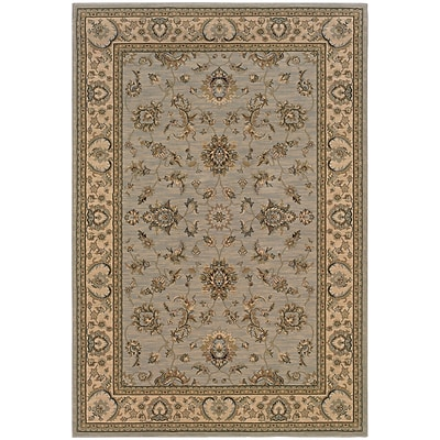 StyleHaven Traditional Floral Polypropylene 710 X 11 Blue/Ivory Area Rug (WARI2153B8X11L)