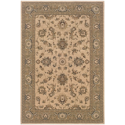 StyleHaven Traditional Floral Polypropylene 67 X 96 Ivory/Green Area Rug (WARI2153C6X9L)