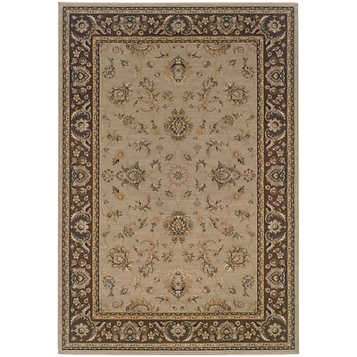 StyleHaven Traditional Floral Polypropylene 4X 59 Blue/Brown Area Rug (WARI2153D4X6L)