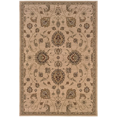 StyleHaven Traditional Floral Polypropylene 4X 59 Beige/Gold Area Rug (WARI2302A4X6L)