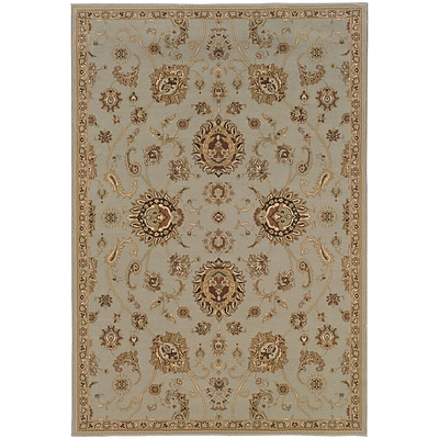 StyleHaven Traditional Floral Polypropylene 53 X 79 Blue/Gold Area Rug (WARI2302B5X8L)