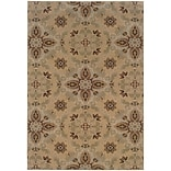 StyleHaven Floral Polypropylene 53 X 79 Gold/Green Area Rug