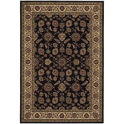 StyleHaven Traditional Polypropylene 710 X 11 Brown/Ivory Area Rug (WARI271D38X11L)