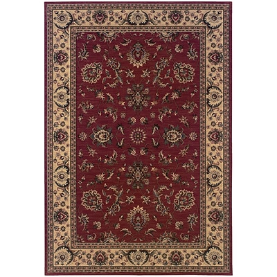 StyleHaven Traditional Polypropylene 53 X 79 Red/Ivory Area Rug (WARI311C35X8L)