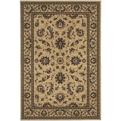 StyleHaven Traditional Polypropylene 67 X 96 Ivory/Green Area Rug (WARI311I36X9L)