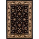 StyleHaven Traditional Polypropylene 710 X 11 Black/Ivory Area Rug (WARI311K38X11L)