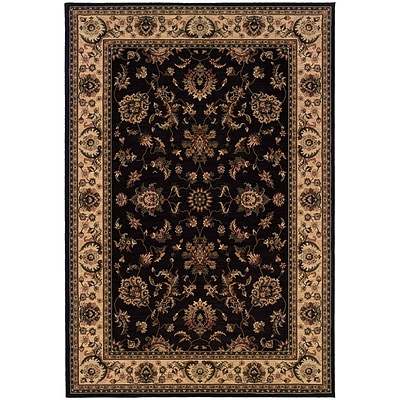 StyleHaven Traditional Polypropylene 53 X 79 Black/Ivory Area Rug (WARI311K35X8L)