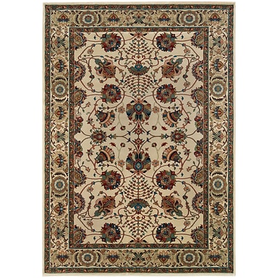 StyleHaven Traditional Floral Polypropylene 4X 59 Ivory/Red Area Rug (WARI431O34X6L)