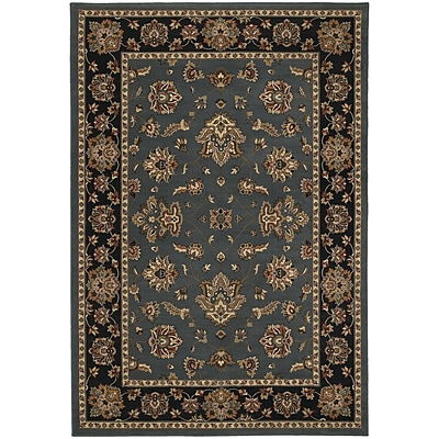 StyleHaven Traditional Floral Polypropylene 710 X 11 Blue/Black Area Rug (WARI623H38X11L)