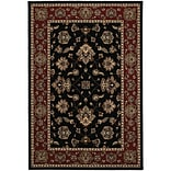 StyleHaven Traditional Floral Polypropylene 67 X 96 Black/Red Area Rug (WARI623M36X9L)
