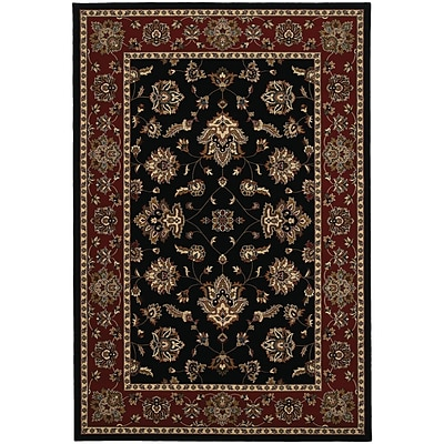 StyleHaven Traditional Floral Polypropylene 4X 59 Black/Red Area Rug (WARI623M34X6L)