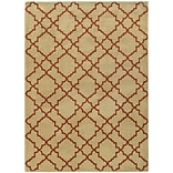 StyleHaven Geometric Lattice Nylon/Polypropylene 53X76 Beige/Rust Area Rug