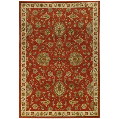 StyleHaven Traditional Floral Nylon/Polypropylene 67 X 96 Red/Beige Area Rug (WCAB5317D6X9L)
