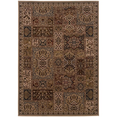 StyleHaven Traditional Polypropylene 67 X 96 Beige/Brown Area Rug (WCBG5991Y6X9L)
