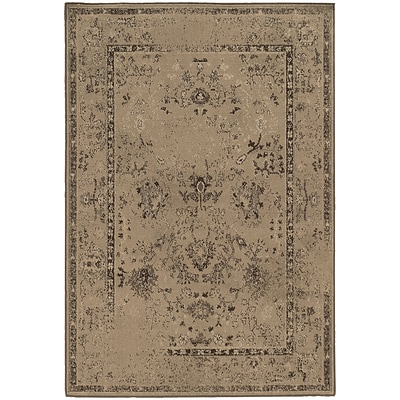 StyleHaven Distressed Polypropylene 53X76 Tan/Brown Area Rug (WCLO3251K5X8L)