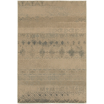 StyleHaven Transitional Eroded Transitional Polypropylene 53X76 Tan/Blue Area Rug WCLO3691H5X8L