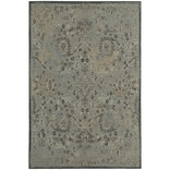 StyleHaven Distressed Polypropylene 310X55 Blue/Brown Area Rug