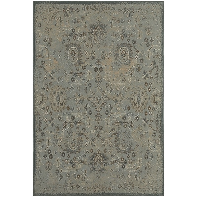 StyleHaven Distressed Traditional Polypropylene 53X76 Blue/Brown Area Rug (WCLO3692I5X8L)