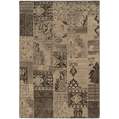 StyleHaven Casual Mixed Persian Polypropylene 53 X 76 Brown/Tan Area Rug (WCLO501N45X8L)