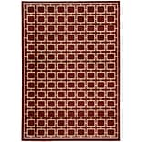 StyleHaven Geometric Polypropylene 53 X 73 Red/Beige Area Rug