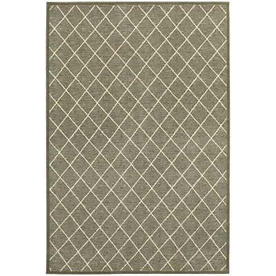 StyleHaven Transitional Lattice Polypropylene/ Polyester 53X76 Grey/Ivory Area Rug WELR090E45X8L