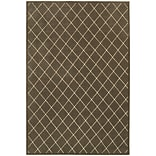 StyleHaven Lattice Polypropylene/Polyester 67X96 Brown/Ivory Rug