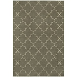 StyleHaven Lattice Polypropylene/ Polyester 67X96 Grey/Ivory Area Rug