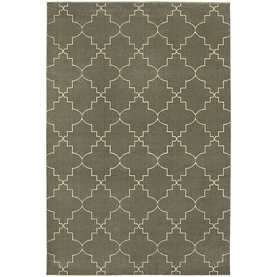 StyleHaven Transitional Lattice Polypropylene/Polyester 310X55 Grey/Ivory Rug (WELR5994D4X6L)