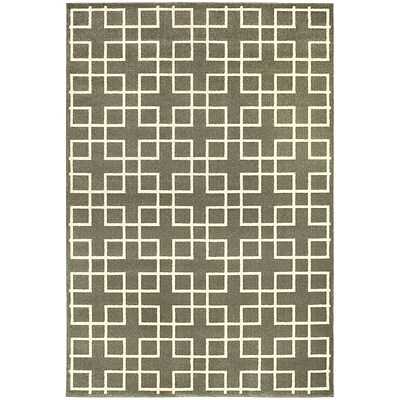 StyleHaven Transitional Lattice Polypropylene/ Polyester 67X96 Grey/Ivory Area Rug WELR6140N6X9L