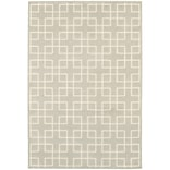 StyleHaven Lattice Polypropylene/ Polyester 310 X 55 Ivory Area Rug