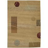 StyleHaven Contemporary Geometric Polypropylene 4X 59 Beige/Red Area Rug