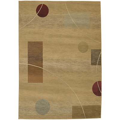 StyleHaven Contemporary Geometric Polypropylene 67 X 91 Beige/Red Area Rug (WGNR1504G6X9L)