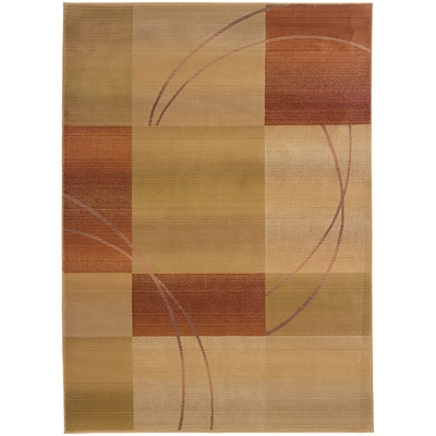 StyleHaven Contemporary Geometric Polypropylene 4X 59 Beige/Rust Area Rug (WGNR1608D4X6L)
