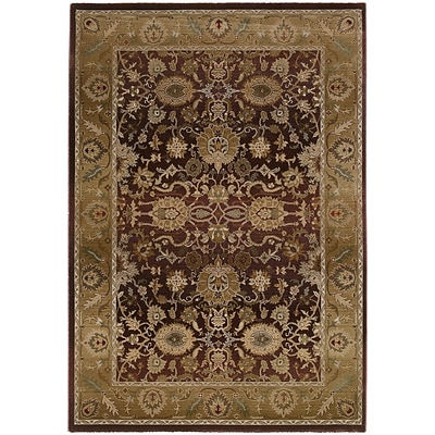 StyleHaven Traditional Polypropylene 4X 59 Purple/Gold Area Rug (WGNR1732M4X6L)