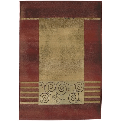 StyleHaven Transitional Border Polypropylene 4X 59 Red/Beige Area Rug (WGNR213R14X6L)