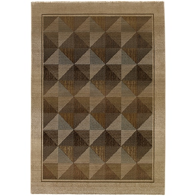 StyleHaven Contemporary Diamonds Polypropylene 4X 59 Beige/Green Area Rug (WGNR252J14X6L)