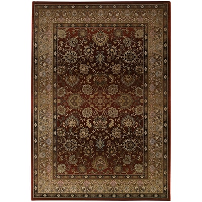 StyleHaven Traditional Polypropylene 53 X 76 Red/Beige Area Rug (WGNR3434R5X8L)
