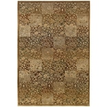 StyleHaven Transitional Floral Polypropylene 67 X 91 Green/Gold Area Rug (WGNR3435Y6X9L)