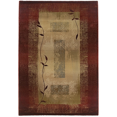 StyleHaven Transitional Border Polypropylene 4X 59 Red/Beige Area Rug (WGNR544X14X6L)