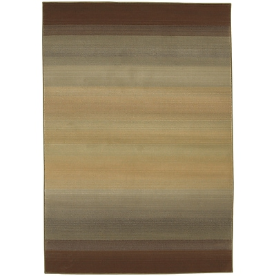 StyleHaven Transitional Ombre Polypropylene 53 X 76 Brown/Beige Area Rug (WGNR594X15X8L)