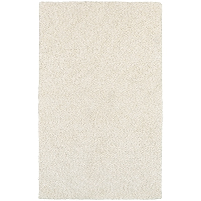 StyleHaven Shag Heathered Polyester 66 X 96 Ivory Area Rug (WHEV734026X9L)