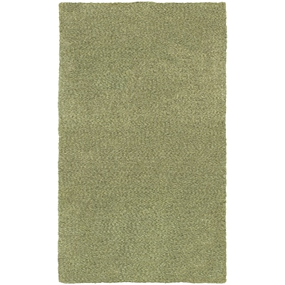 StyleHaven Shag Heathered Polyester 66 X 96 Green Area Rug (WHEV734036X9L)