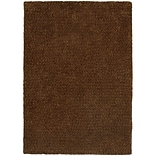 StyleHaven Shag Heathered Polyester 8 X 11 Brown Area Rug