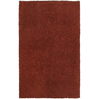 StyleHaven Shag Heathered Polyester 8 X 11 Red Area Rug (WHEV734068X11L)